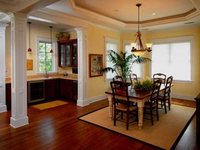 Dining Room And Wet Bar Open For Casual Enertaining On The Water